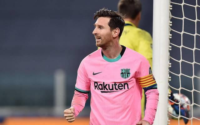 Lionel Messi traf gegen Juve vom Punkt