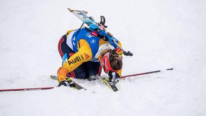 Denise Herrmann erwischte in Oberhof einen schwarzen Tag