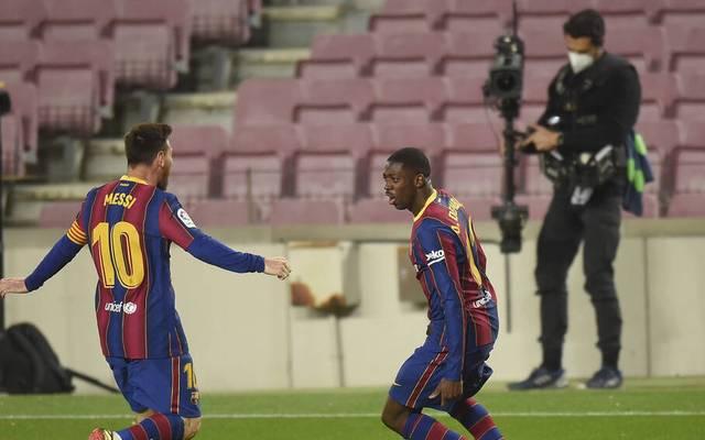 Ousmane Dembélé (r.) erzielte in der 90. Minute das Siegtor
