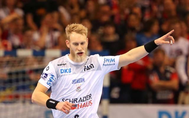 Matthias Musche gewann mit dem SC  Magdeburg in Leon
