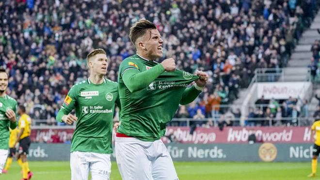 Der FC St. Gallen steht aktuell an der Tabellenspitze der Schweizer Super League