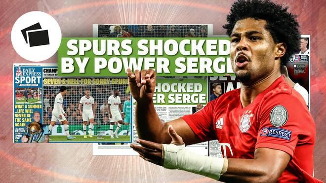 Serge Gnabry bestimmt die Schlagzeilen nach Bayerns Sieg gegen Tottenham