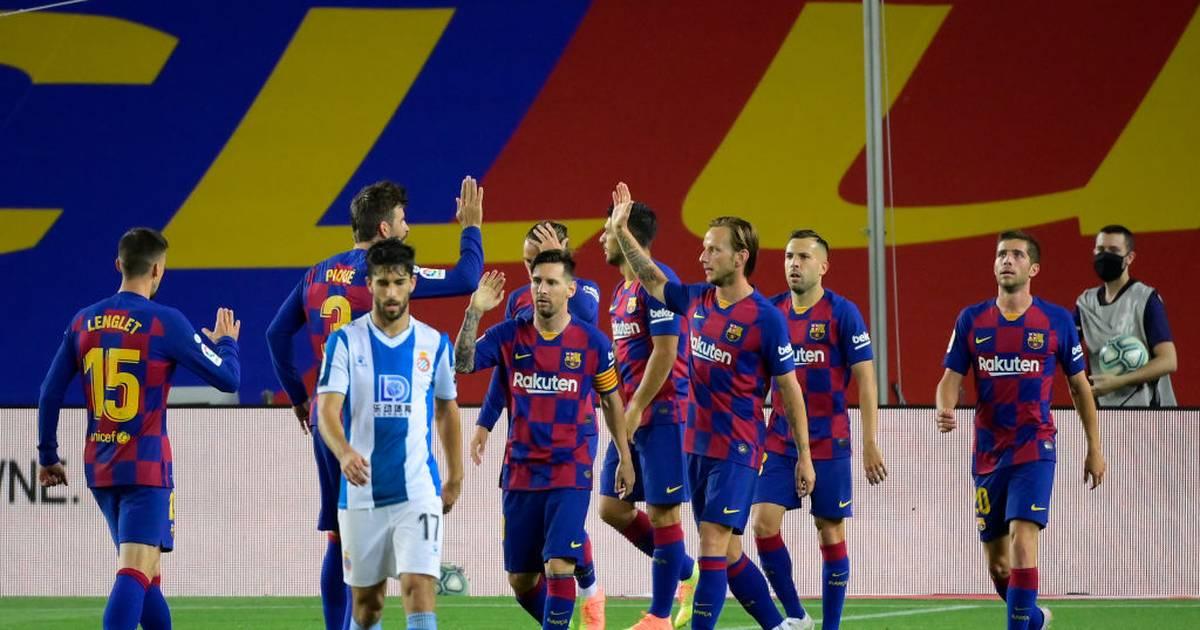 La Liga: FC Barcelona schlägt Espanyol Barcelona - Ansu Fati sieht Rot