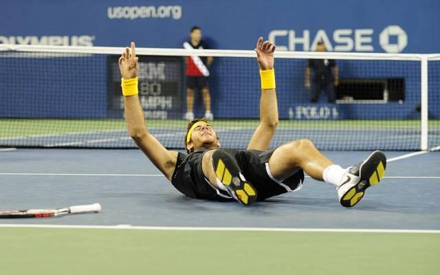 Juan Martin Del Potro feierte im Finale der US Open gegen Roger Federer den größten Erfolg seiner Karriere