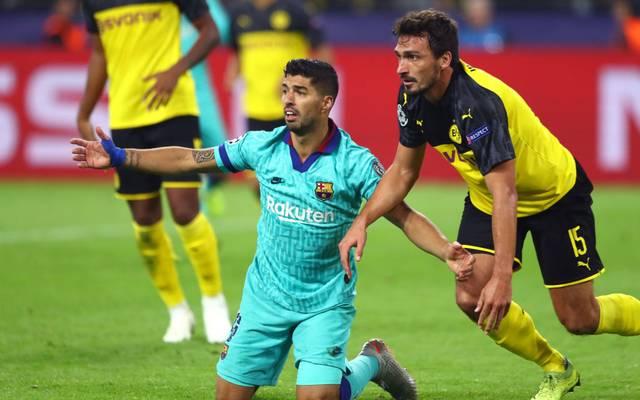 Abgemeldet! Mats Hummels (r.) ließ nicht nur Luis Suárez verzweifeln