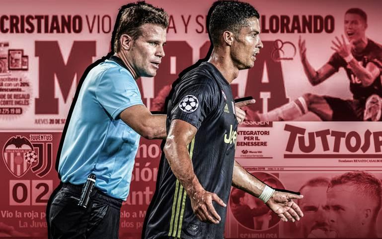 Nach dem zweifelhaften Platzverweis von Ronaldo überschlägt sich die italienische und spanische Presse förmlich. Im Zentrum der Kritik stehen die deutschen Referees. Citys Heimpleite wird an Guardiolas Sperre festgemacht. SPORT1 fasst die Pressestimmen zusammen