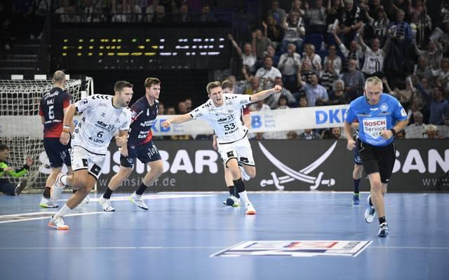 Der THW Kiel gewann den ersten Nord-Kracher der neuen Saison
