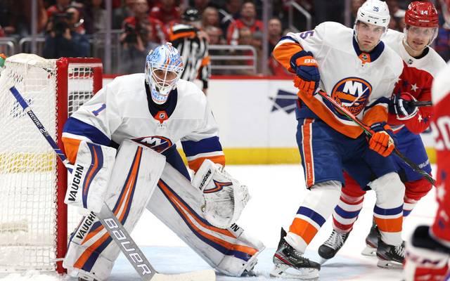 Thomas Greiss (l.) spielt seit 2015 für die New York Islanders