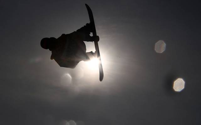 PYEONGCHANG-GUN, SOUTH KOREA - FEBRUARY 24:  Max Parrot of Canada  trains during the Men's Big Air Final on day 15 of the PyeongChang 2018 Winter Olympic Games at Alpensia Ski Jumping Centre on February 24, 2018 in Pyeongchang-gun, South Korea.  (Photo by Clive Mason/Getty Images)