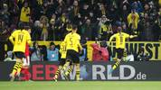 MAINZ, GERMANY - DECEMBER 14: Marco Reus of Borussia Dortmund celebrates after scoring his team's first goal during the Bundesliga match between 1. FSV Mainz 05 and Borussia Dortmund at Opel Arena on December 14, 2019 in Mainz, Germany. (Photo by Christian Kaspar-Bartke/Bongarts/Getty Images)
