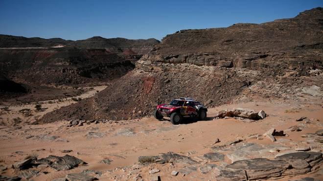 Stephane Peterhansel setzt sich bei der Rallye Dakar an die Spitze