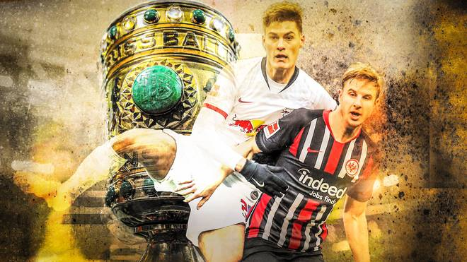 Leipzigs Patrik Schick (l.) und Martin Hinteregger werden sich wohl auch im Pokal duellieren
