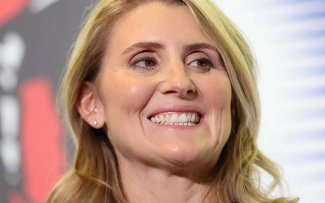 TORONTO, ONTARIO - NOVEMBER 15: Hayley Wickenheiser attends a photo opportunity for the 2019 Induction Ceremony at the Hockey Hall Of Fame on November 15, 2019 in Toronto, Ontario, Canada. (Photo by Bruce Bennett/Getty Images)