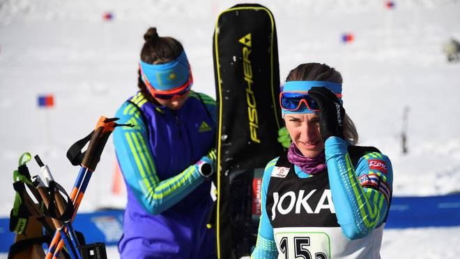 Olga Poltoranina (vorne) stand auf der Liste der neun Kasachen, die unter Doping-Verdacht standen.