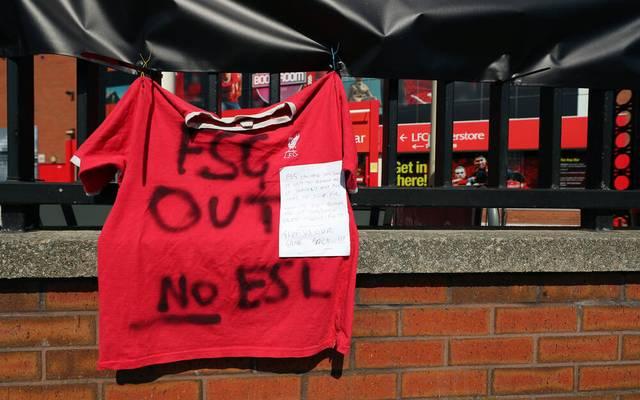 Fans protestierten massiv gegen die Super League