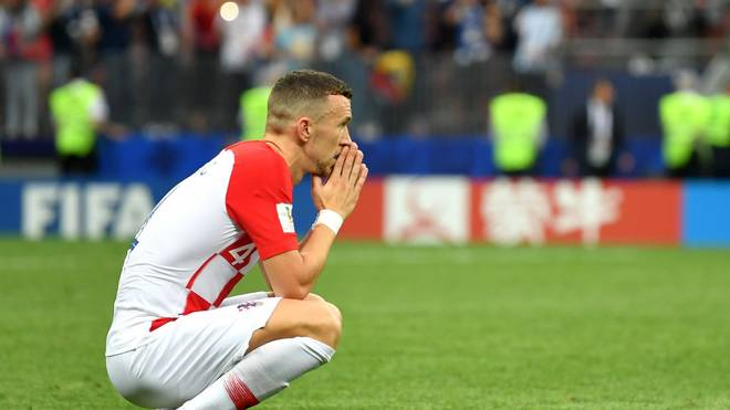 MOSCOW, RUSSIA - JULY 15:  Ivan Perisic of Croatia looks dejected following the 2018 FIFA World Cup Final between France and Croatia at Luzhniki Stadium on July 15, 2018 in Moscow, Russia.  (Photo by Dan Mullan/Getty Images)