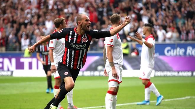 Bas Dost erzielte das 1:1 für Eintracht Frankfurt gegen Fortuna Düsseldorf - Bundesliga