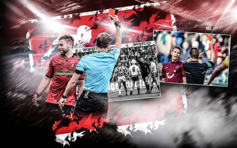 Für Freiburgs Yoric Ravet endet die Premiere in der Bundesliga nach dem heftigen Tritt gegen Marcel Schmelzer mit einer Roten Karte. Der Schweizer ist bei weitem nicht der erste Debütant, der vom Platz fliegt. SPORT1 zeigt Ravets Vorgänger