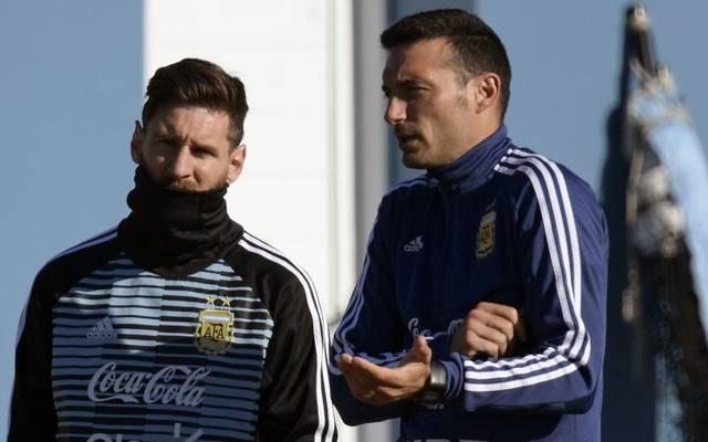 Lionel Messi und Lionel Scaloni arbeiten bei Argentiniens Nationalteam zusammen