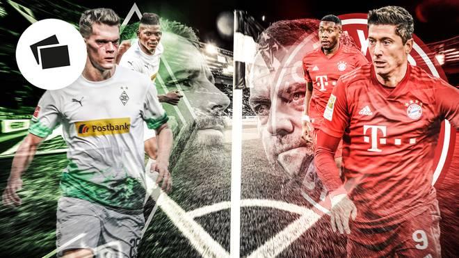 Borussia Mönchengladbach und der FC Bayern im Vergleich