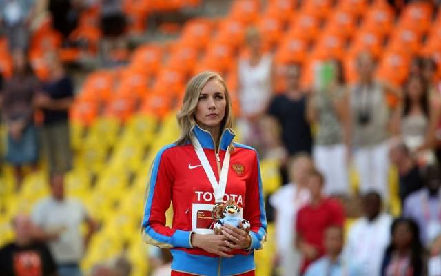 Die russische Leichtathletin Swetlana Schkolina