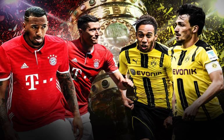 Es ist der finale Höhepunkt einer großartigen Saison: Der FC Bayern München fordert im DFB-Pokalfinale Borussia Dortmund, die beiden besten deutschen Teams treffen aufeinander. SPORT1 vergleicht die Teams im Head-to-Head