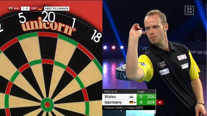 Max Hopp (Bild) und Gabriel Clemens scheiden im Halbfinale des World Cup of Darts aus