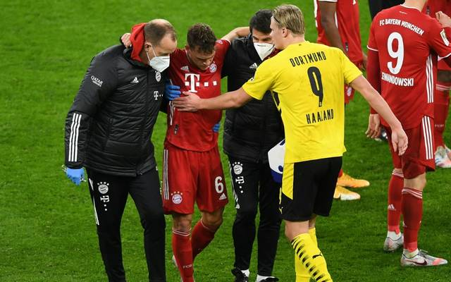 Kimmich hatte sich im Spiel gegen Dortmund verletzt
