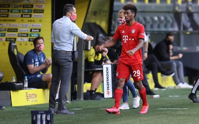 FCB-Sportvorstand Hasan Salihamidzic (l.) wollte Kingsley Coman offenbar unbedingt halten