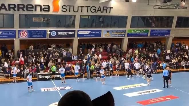 Beim DHB-Pokalspiel zwischen dem TVB Stuttgart und dem THW Kiel muss die Halle evakuiert werden
