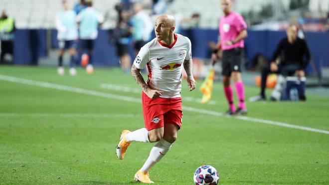 Angelino erzielte in 18 Pflichtspielen für RB Leipzig einen Treffer und bereitete fünf vor