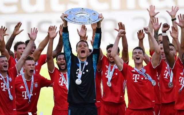 Der FC Bayern gewann zum achten Mal in Folge die Meisterschaft