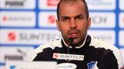 SINSHEIM, GERMANY - DECEMBER 02:  Head coach Markus Babbel of Hoffenheim attends a press conference after the Bundesliga match between TSG 1899 Hoffenheim and SV Werder Bremen at Rhein-Neckar-Arena on December 2, 2012 in Sinsheim, Germany.  (Photo by Alex Grimm/Bongarts/Getty Images)