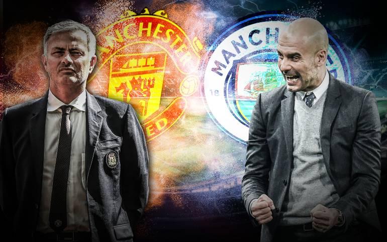 Manchester United gegen Manchester City - das heißt auch: Jose Mourinho gegen Pep Guardiola. Am Sonntag kommt es im Etihad Stadium zu einem weiteren Duell der Star-Trainer (ab 17.30 Uhr im LIVETICKER)