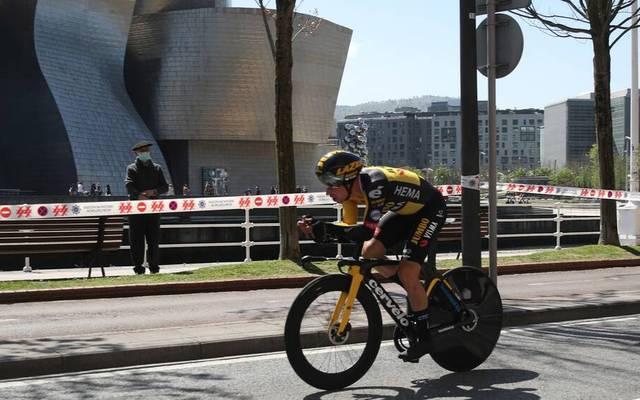 Primoz Roglic gewann das Einzelzeitfahren zum Auftakt der Baskenland-Rundfahrt