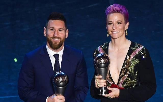 Weltfußballer 2019: Rapinoe (r.) und Messi (l.)