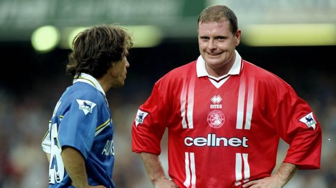 Paul Gascoigne leistete sich so manchen Fehltritt - so auch bei Middlesbrough