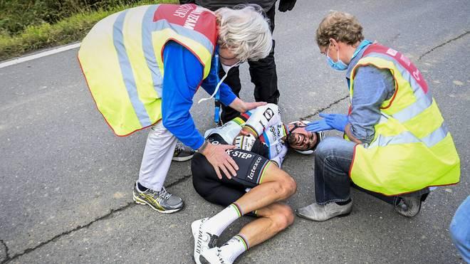Julian Alaphilippe hat sich an der Hand verletzt