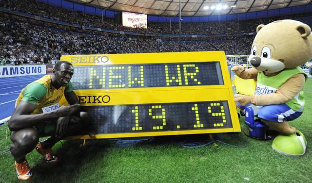 Usain Bolt stellte 2009 in Berlin den bis heute gültigen Weltrekord über die 200 Meter auf