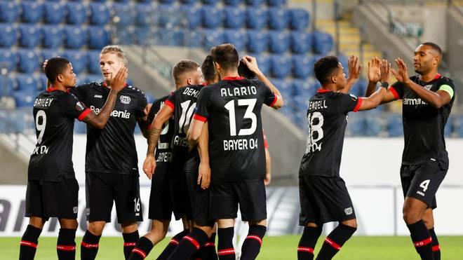 Bayer 04 Leverkusen gewinnt in der Europa League gegen Hapoel Be'er Scheva