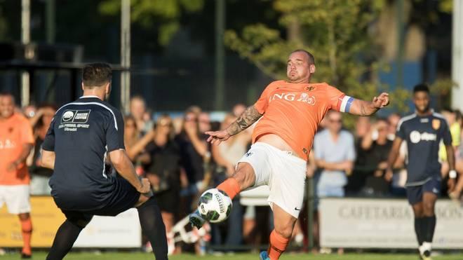 Wesley Sneijder sorgt mit seinem neuen Look für Aufsehen