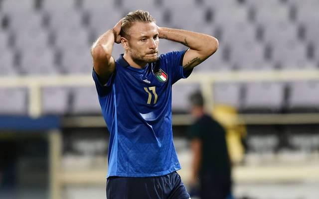Ciro Immobile spielte mit Italien nur Unentschieden gegen Bosnien und Herzegowina