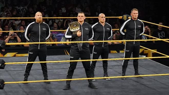 Imperium bei WWE (v.l.): Alexander Wolfe, WALTER, Fabian Aichner, Marcel Barthel