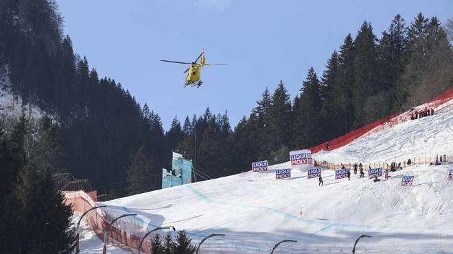 Auch Ryan Cochran-Siegle musste mit dem Hubschrauber von der Streif abtransportiert werden