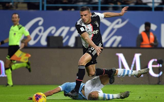 RIYADH, SAUDI ARABIA - DECEMBER 22:  Merih Demiral of Juventus competes for the ball during the Italian Supercup match between Juventus and SS Lazio  at King Saud University Stadium on December 22, 2019 in Riyadh, Saudi Arabia.  (Photo by Marco Rosi/Getty Images)