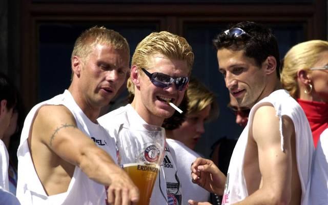 Thorsten Fink, der heutige SPORT1-Experte Stefan Effenberg und Hasan Salihamidzic (jetzt Bayern-Sportvorstand) gewannen 2001 mit dem FC Bayern die Champions League