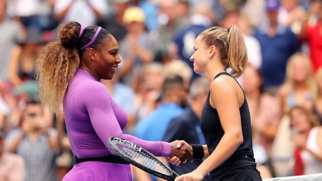 Serena Williams nach ihrem Sieg gegen Karolina Muchova