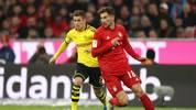 Thorgan Hazard (l.) im Duell mit Leon Goretzka vom FC Bayern