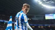SAN SEBASTIAN, SPAIN - FEBRUARY 13: Martin Odegaard of Real Sociedad reacts during the Copa del Rey Semi-Final 1st Leg match between Real Sociedad and Mirandes at Estadio Anoeta on February 13, 2020 in San Sebastian, Spain. (Photo by Juan Manuel Serrano Arce/Getty Images)