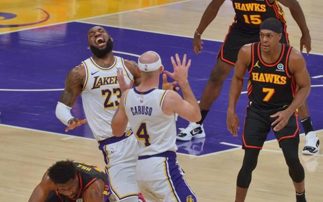NBA-Superstar LeBron James musste verletzungsbedingt vom Feld